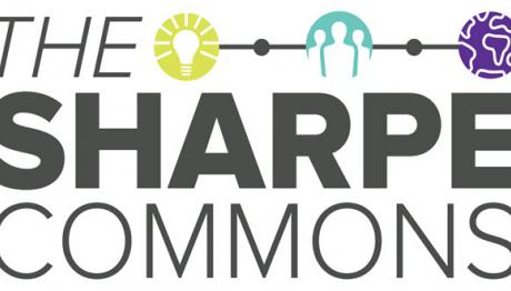 The Sharpe Commons logo