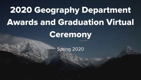Geography Department Awards and Graduation Ceremony