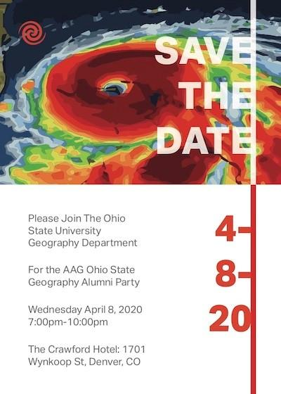 OSU Geography AAG Party flyer