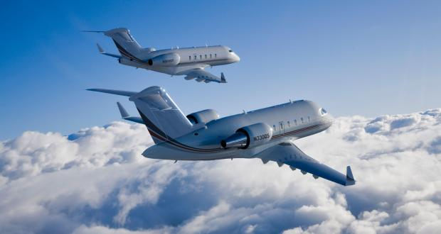 NetJets Challenger airliner