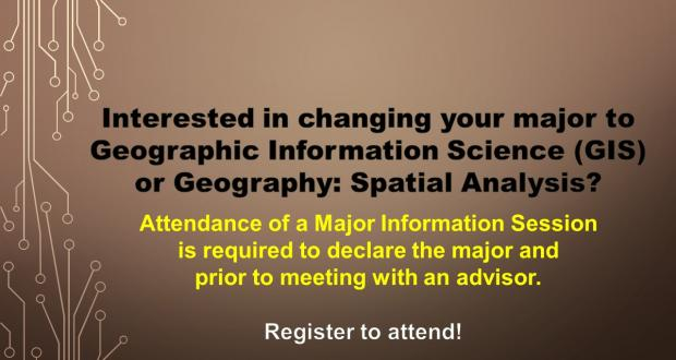 GIS and Spatial Analysis Major Info Sessions