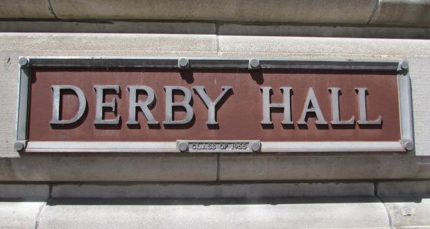 Derby Hall Sign