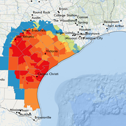 Hurricane Harvey power outage predictions