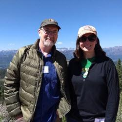 Jim DeGrand and Christine Biermann at the North American DendroEcological Fieldweek  in Wyoming