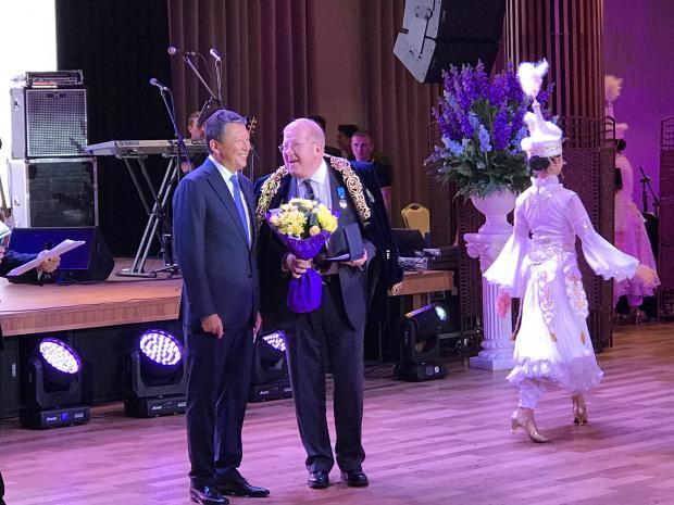 Matt Sagers awarded Hero of Kazakhstan medal