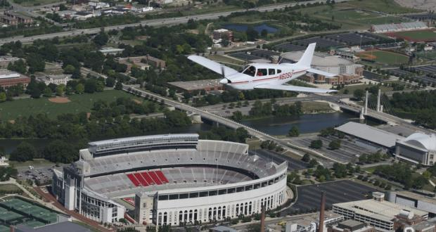 Flying over Ohio Stadium