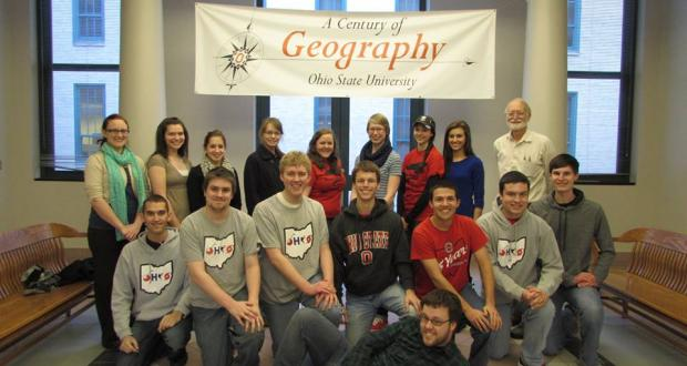 OSU Meteorology Club in derby hall atrium